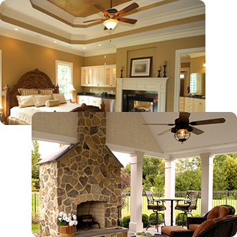 Interior and Exterior Ceiling Fan Installation in North Aurora, IL