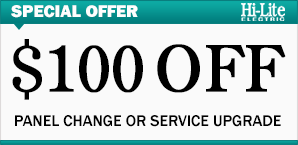 $100 Off Panel Change Or Service Upgrade